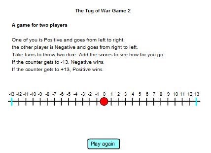 Use of number line to investigate decimals, as well as negative ...