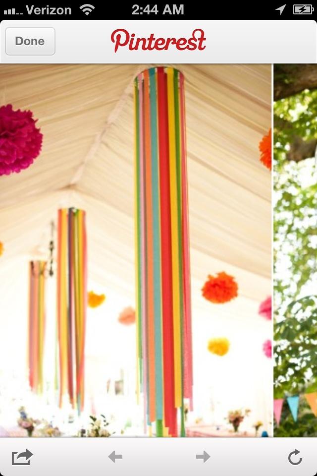 Crepe paper decorations party ideas pinterest for Decor using crepe paper