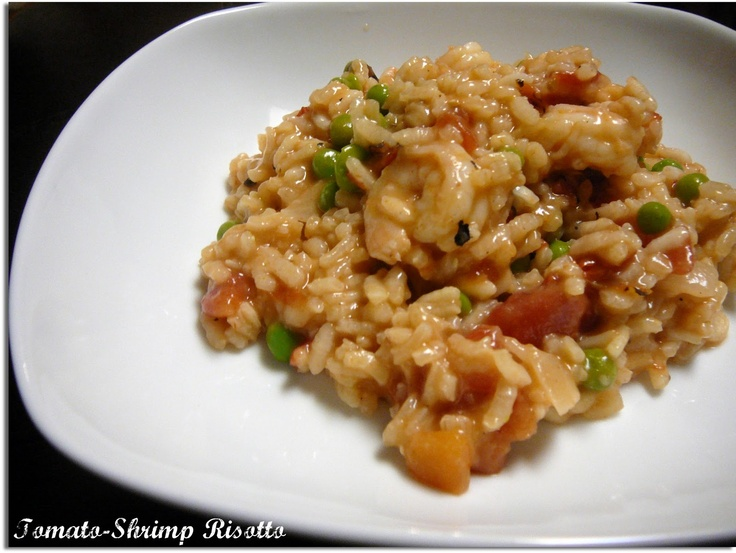 Tomato-Shrimp Risotto | Seafood | Pinterest
