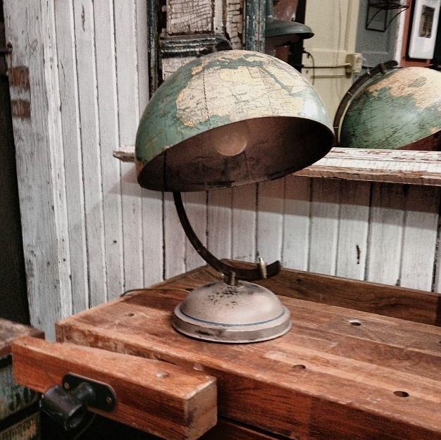 Repurposed globe lamp wanderlust pinterest for Repurposed light globes