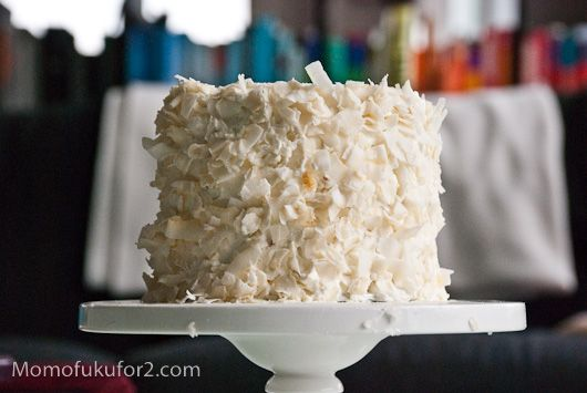 coconut cake with coconut swiss meringue buttercream-- and I guess I ...