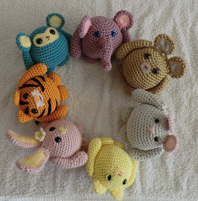 Ravelry Amigurumi Cat : Fat friends animal amigurumi crochet patterns set of all ...