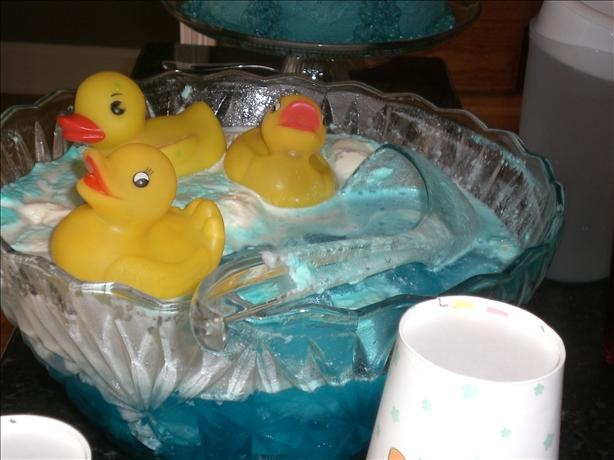 blue baby shower punch recipe