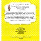 Curious George's First Day of School Lesson plan, activities and ...