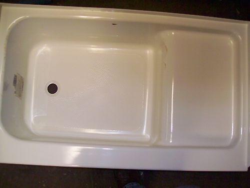 new rv trailer cer 40 quot step tub bath bathtub left drain