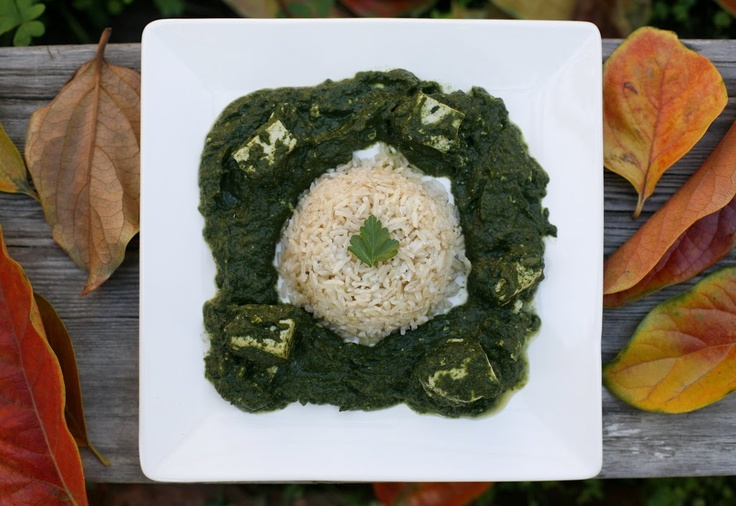 Tofu Saag with Brown Rice | Kool Plant Based Recipes | Pinterest