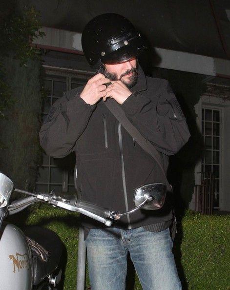 Keanu Reeves and Motorcycle