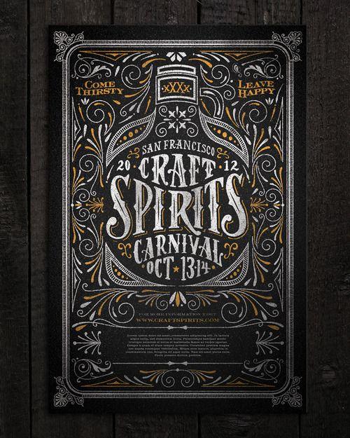 Craft Spirits Carnival poster | Joel Felix via Typeverything.com