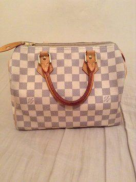 Louis Vuitton Azur Speedy 25 White And Gray Tote Bag $589 - 265 x 355  15kb  jpg