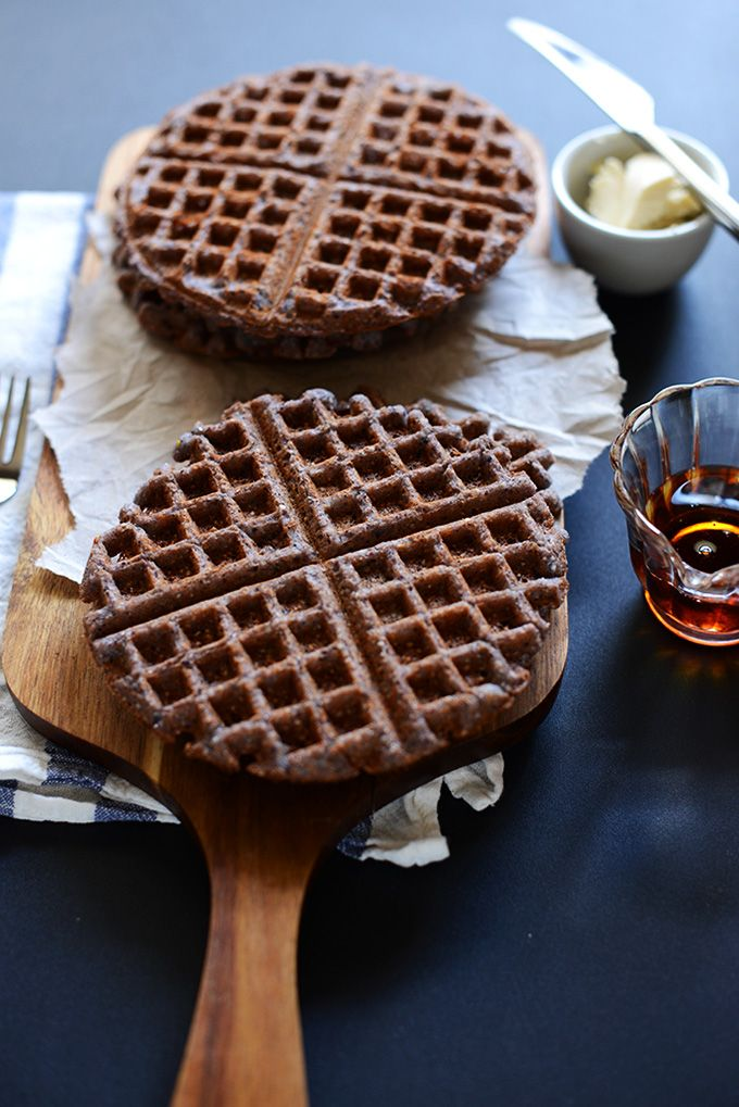 Vegan Gluten Free Blue Cornmeal Waffles | minimalistbaker.com Perhaps ...