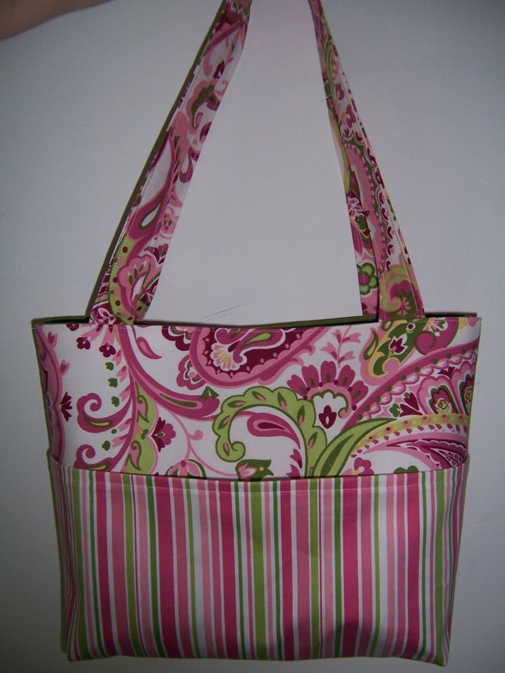 Patterns For Bags : Pocket Tote Bag PDF Sewing Pattern - 4 Sizes to Make - customize your ...