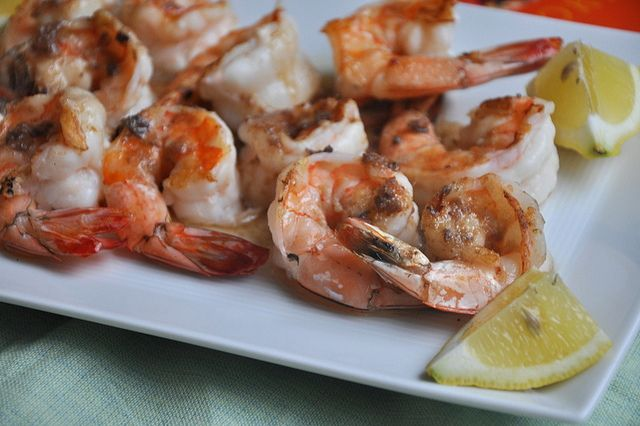 Grilled Shrimp with Anchovy Butter by Turntable Kitchen, via Flickr