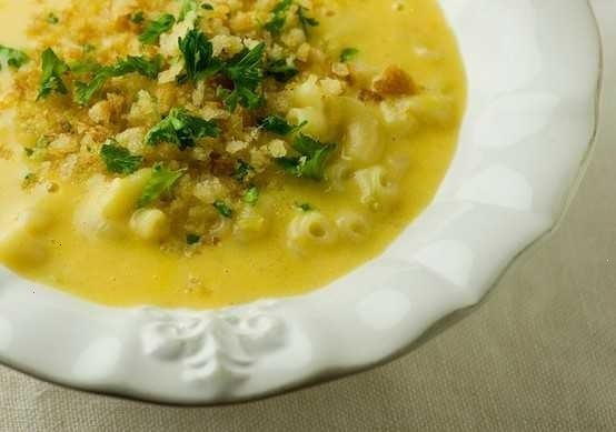 MACARONI AND CHEESE SOUP | good eats! | Pinterest