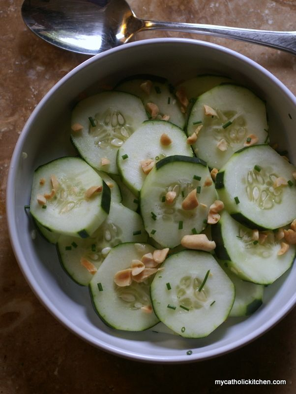 Cucumber Peanut and Chive Salad | Recipe