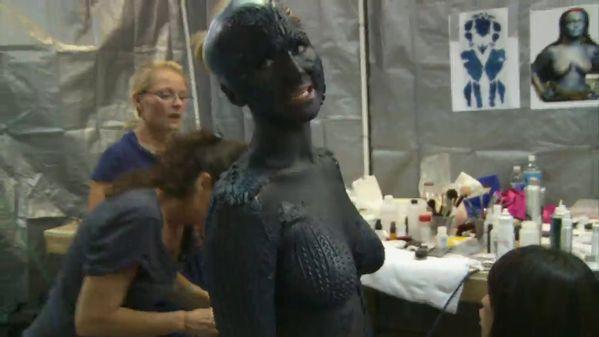 Jennifer Lawrence Mystique Makeup Process jennifer-lawrence.com