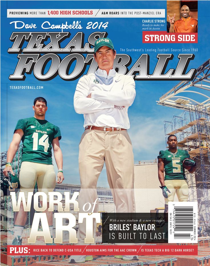 """For the first time since 1975, #Baylor football commands the cover of """"the Bible of Texas football."""" #SicEm"""