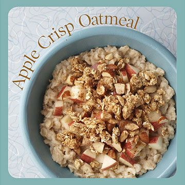 Apple crisp oatmeal 1 2 cup chopped apple 2 tablespoons low fat