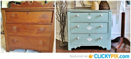 20 Before And After Furniture Makeovers Home Pinterest
