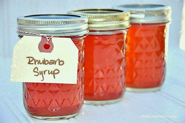 ... Hill Farm: Food Preservation Recipe - Canned Rhubarb Syrup Concentrate