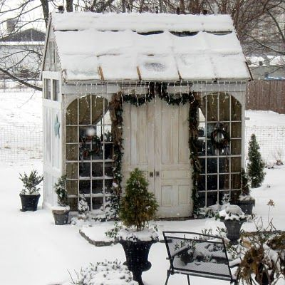 Holiday Garden Shed!