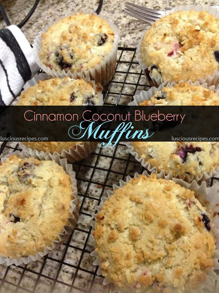 Cinnamon Coconut Blueberry Muffins | Healthy recipes/Clean eating | P ...