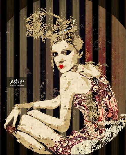 Provence   Albina Pugina #illustration  #mixed_media
