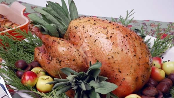 Roast Vermont Turkey With Giblet Gravy And Sausage And Sage Dressing ...