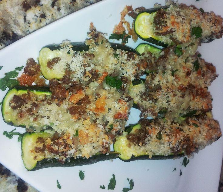 Stuffed Zucchini With Mortadella And Parmesan Recipes — Dishmaps