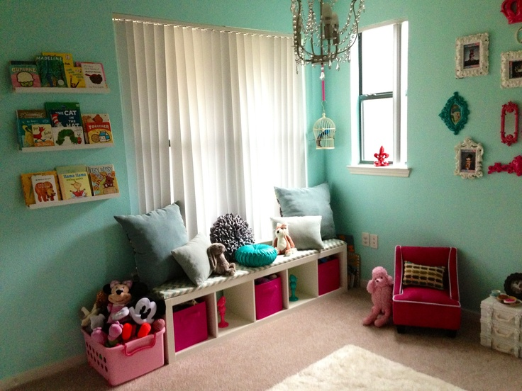 Girls Playroom - Kids Window Seat | Playroom Ideas | Pinterest