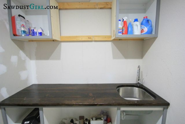 Laundry Room Undermount Sinks : diy wood countertop with undermount sink DIY for the Home Pintere ...