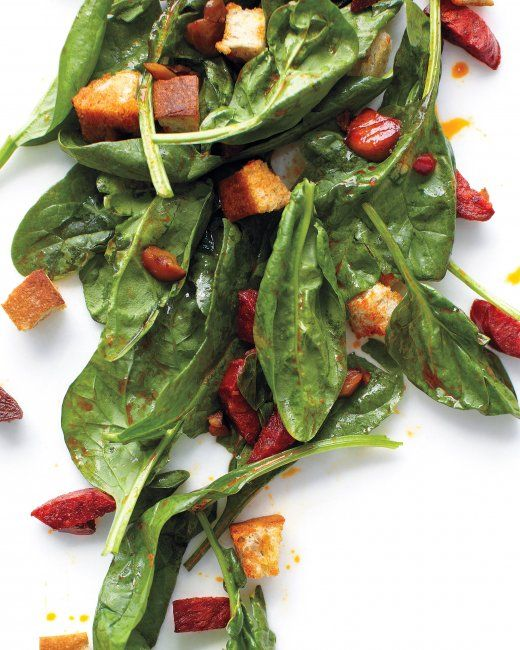 Warm Spinach and Chorizo Salad | Recipe