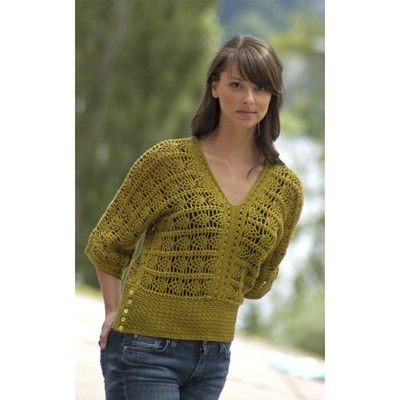 Free Online Crochet Top Patterns : Pima Crocheted Pineapple Top (Free) in Free Crochet ...