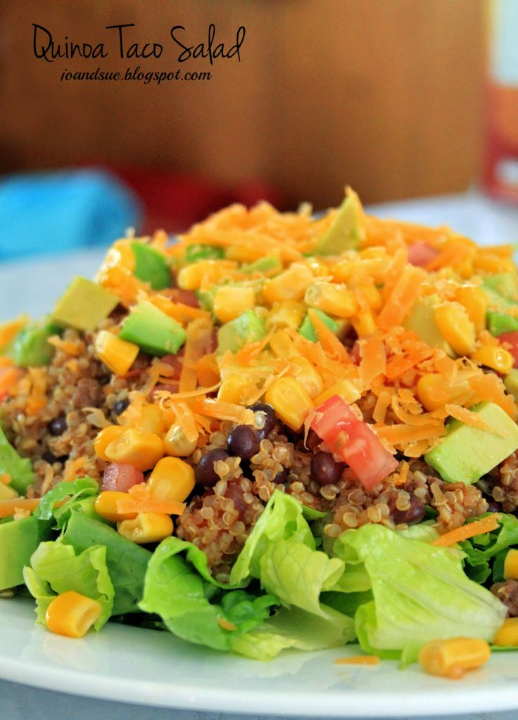 Jo and Sue: Quinoa Taco Salad | Quinoa | Pinterest