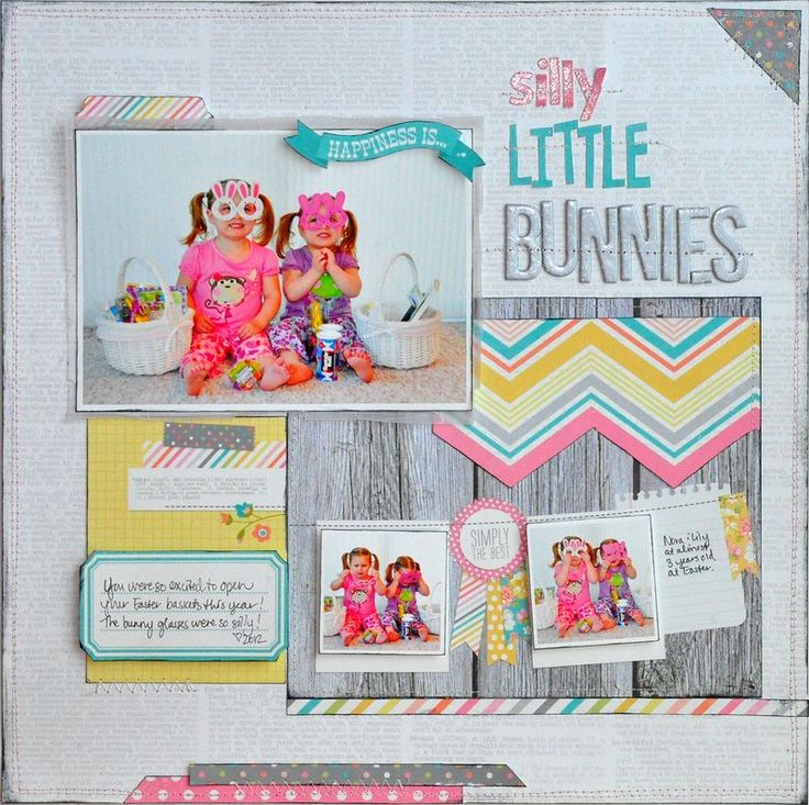 Adorable layout by Jill for Simple Stories using awesome new products from the Vintage Bliss line.