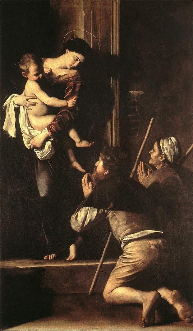 Caravaggio, Madonna of the Pilgrims, 1604-06