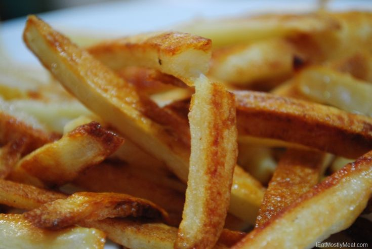 Homemade Oven French Fries. This French Fry Recipe only uses potatoes ...