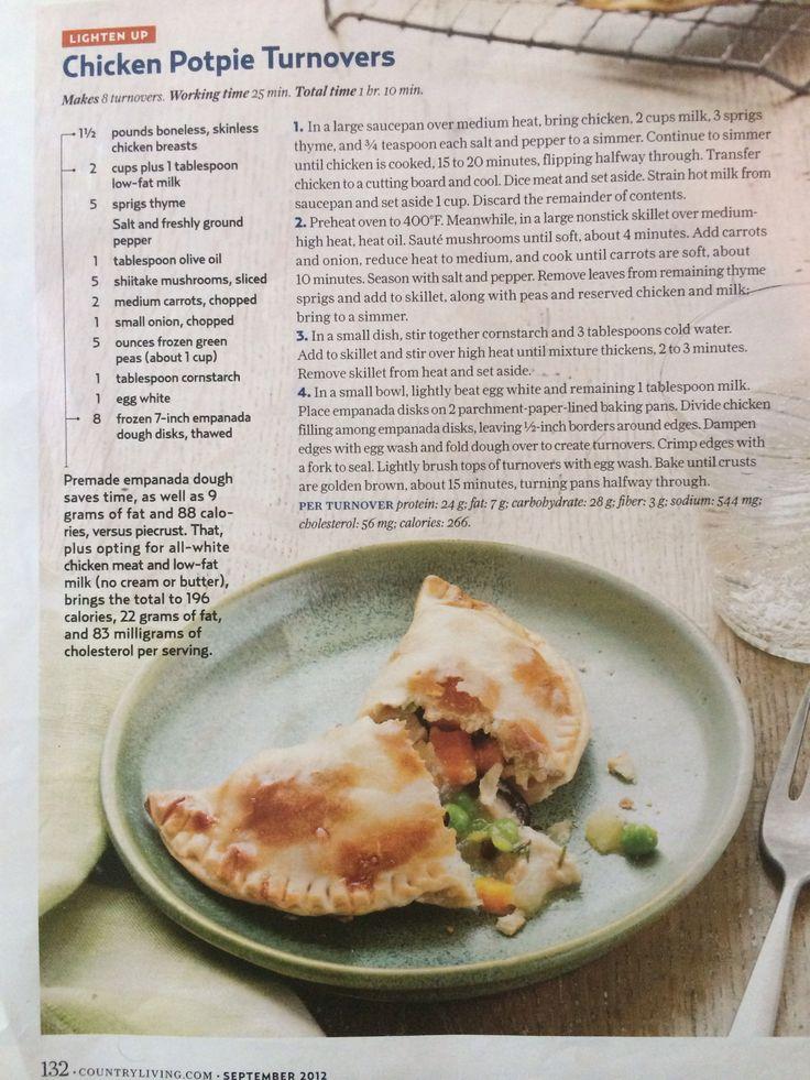 Chicken Potpie Turnovers | Yummy in my tummy! | Pinterest