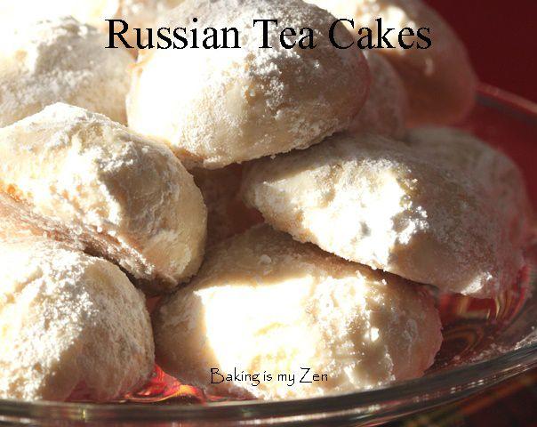 Russian Tea Cakes CLOSEUP | Christmas-FOOD-Sweet & Savory | Pinterest