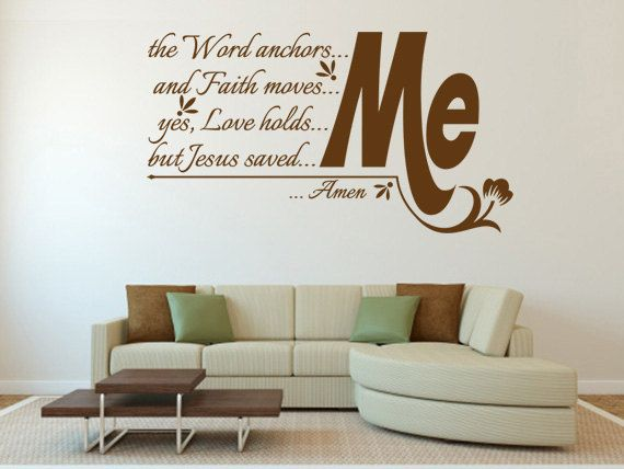 Bedroom wall quotes christian quotesgram for Christian wall mural