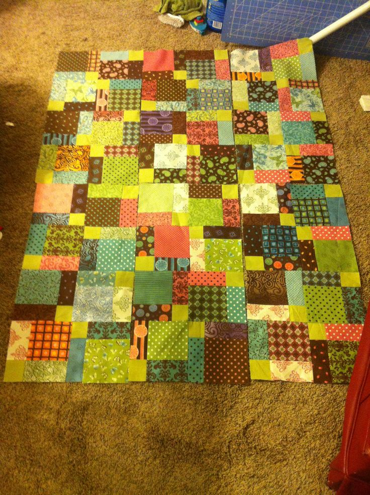 Tossed nine patch quilt pattern Hand Made By Me :) Pinterest