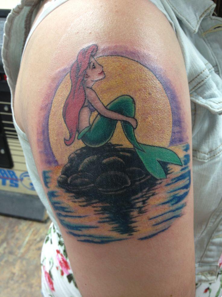 My little mermaid tattoo tattoos and piercings pinterest for Little mermaid tattoos
