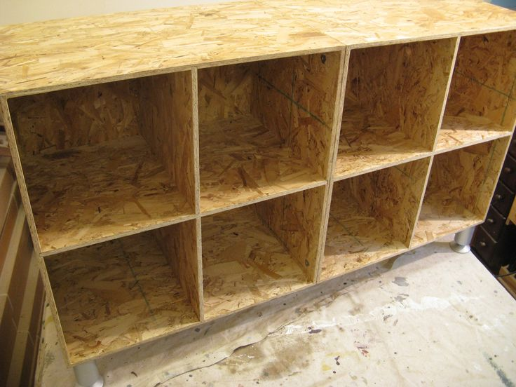 diy garage cabinet ideas - OSB Shelves DIY