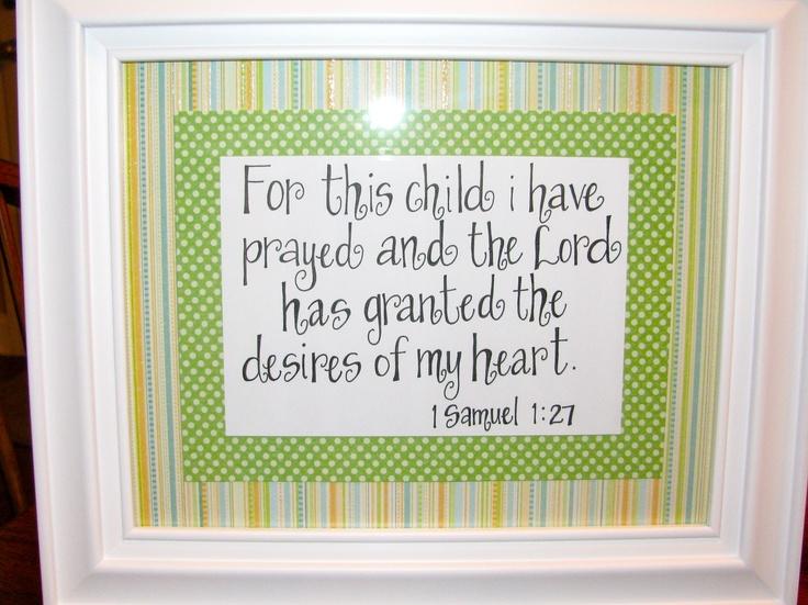 handwritten bible verse i made for a dear friend for a baby shower