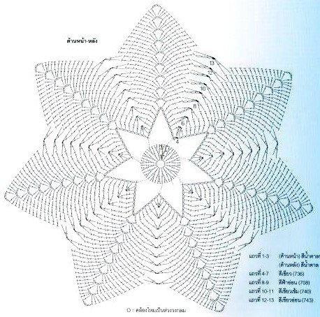 Вязание крючком звезда для начинающих