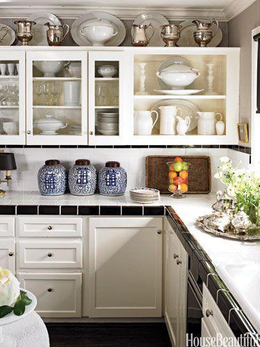 Cocina con azulejos blancos y azules cocinas con encanto - Cocinas con encanto ...