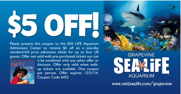 Dallas aquarium coupons discount code