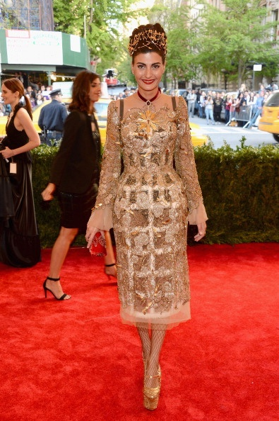 Giovanna Battaglia in Dolce & Gabbana at the Met Gala 2013