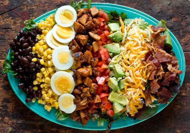 Healthy Salad Recipes - Chicken Cobb Salad from The Kitchn