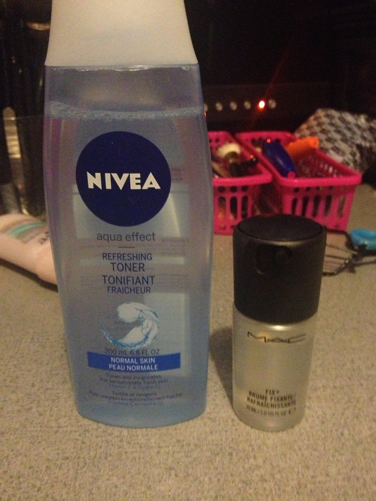 Why spend 20$ on Mac fix plus when you can get some Nivea toner that