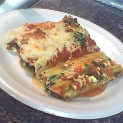 Spinach Cheese Manicotti - making ahead for tomorrow's dinner